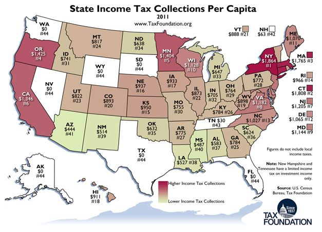 Tax Foundation graphic reproduced in the Atlantic Cities blog.