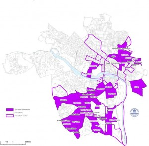 Food deserts in Richmond. Click to view larger image.