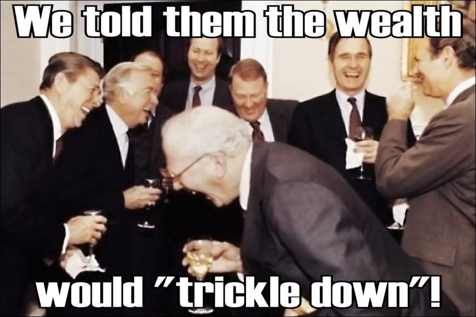 Image result for trickle down economics reagan
