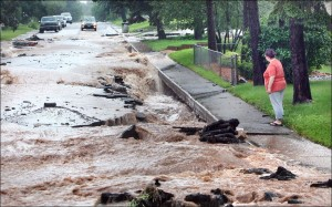 What happens when your storm water system fails. Photo credit: Associated Press.