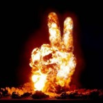 a-bomb peace sign