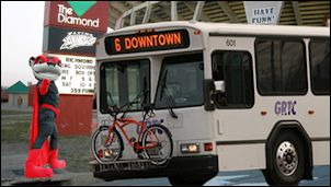 Yeah, GRTC buses have bicycle racks now. But bus companies aren't pursuing disruptive innovation.
