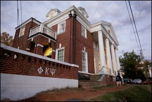 Phi Kappa Psi fraternity house at UVa.