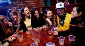 Girls' night out in Chapel Hill. Lucky guy. Photo credit: New York Times.