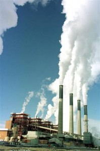 coal plant burns