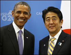 Persident Obama and Japan Prime Minister Abe