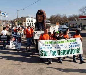 Farmville jail protest