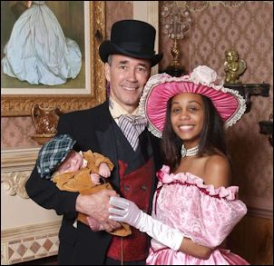 Joe Morrissey with bride-to-be Myrna Pride and baby. He is running as an independent in the black-majority 16th state senate district.