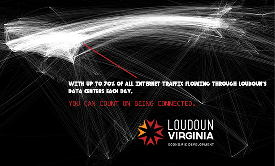 Loudoun County promotion for its data centers.