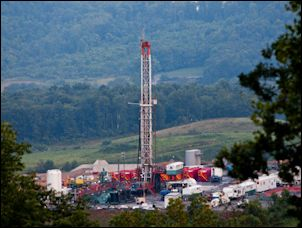 Fracking well in West Virginia