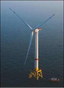 Alstom wind turbine like that contemplated for installation off Virginia Beach.