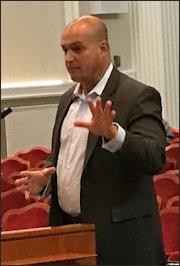 SolUnesco CEO Francis Hodsoll addresses the Albemarle County Board of Supervisors