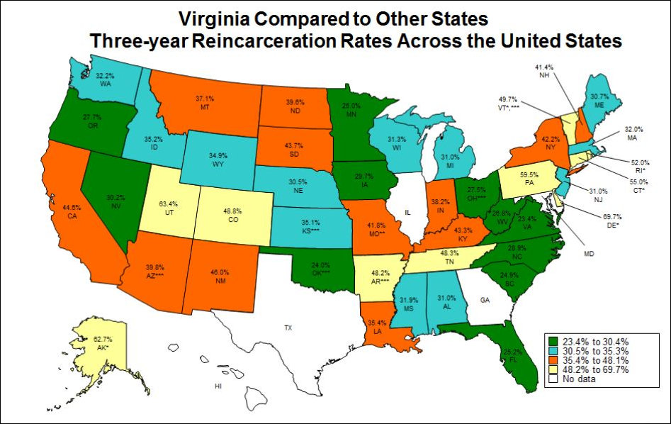 Second Year Running: Lowest Recidivism of Any State - Bacon\'s Rebellion